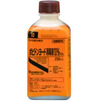 ポビドンヨード消毒液10%「ケンエー」:250ml(旧名称:イオダインM消毒液10%)
