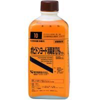 ポビドンヨード消毒液10%「ケンエー」:500ml(旧名称:イオダインM消毒液10%)